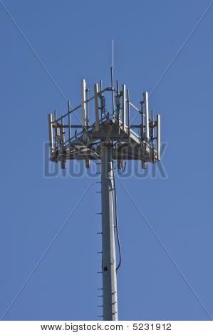 Satellite Tower On Blue