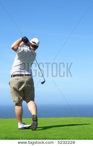 Golfer On The Tee Box