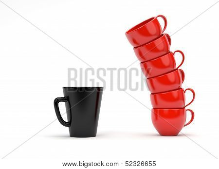 Coffee Mugs isolated