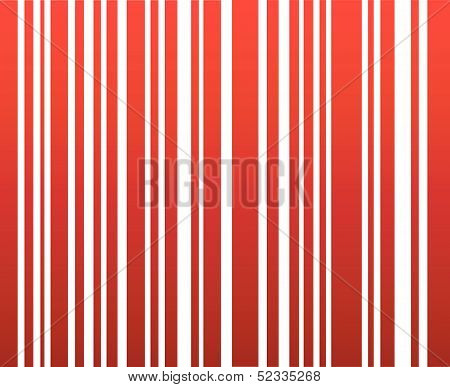 Attractive red feminine bar code