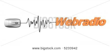 Word Webradio With Grey Mouse