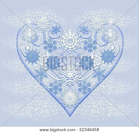 Heart From Snowflakes