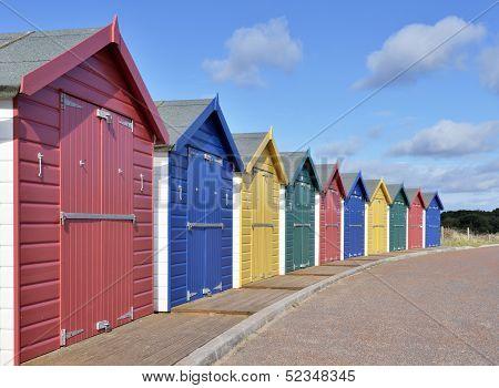 Bathing huts on british coast