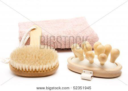 Backs and massage brush