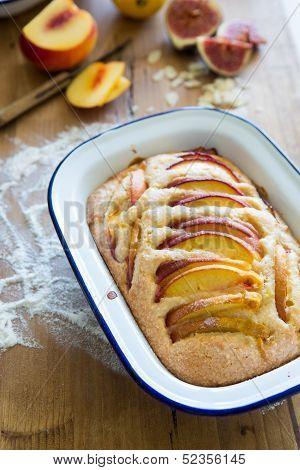 Nectarine Almond Pie