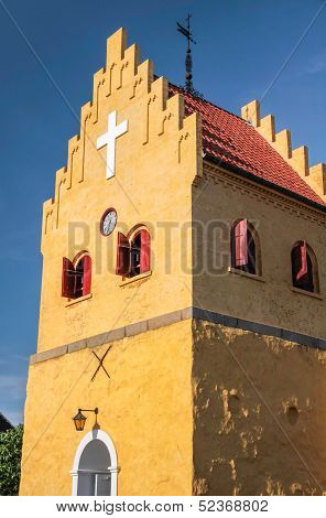 The Yellow Church Of Allinge On Bornholm