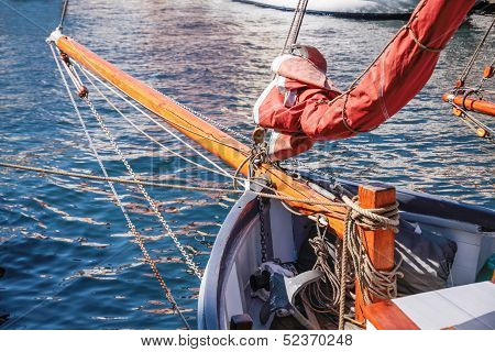 Bowsprit Of An Old Sailing Ship