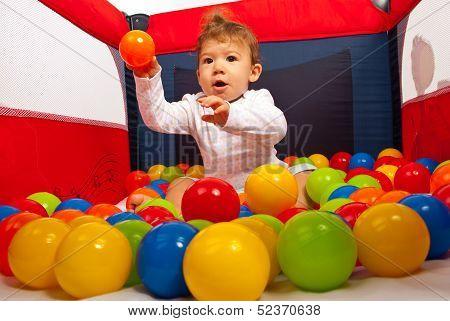 Baby Boy Throw The Ball