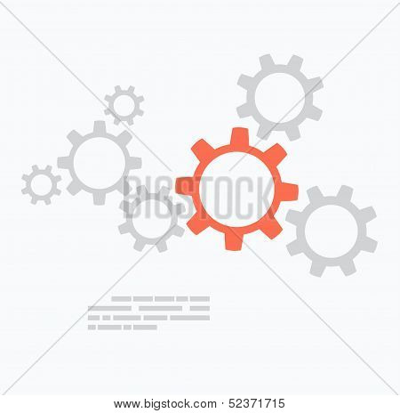 Flat design. Gears concept