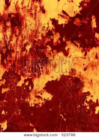 Old Red Wall Background