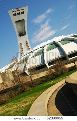 Olympic stadium, Montreal, Canada poster