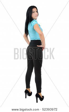 Isolated Business Girl