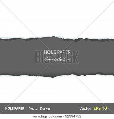 Torn Piece Of Paper. Vector Design.