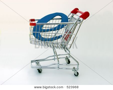 E-commerce Shopping Cart (side View)