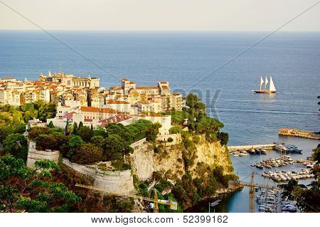 Sailing Yachts In Bay Of Monaco