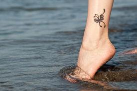Tattoo on a foot