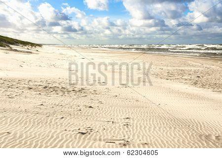 Sand Beach On Baltic Sea