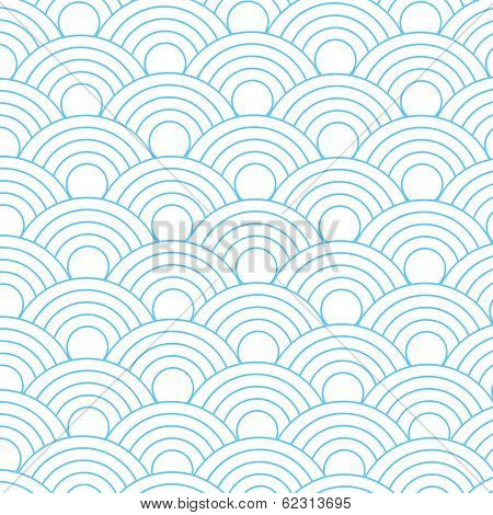 Seamless Abstract  Fish Scale Pattern