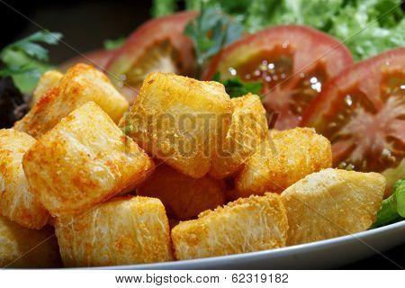 fried yucca