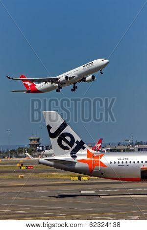 Qantas, Jetstar and Virgin at Sydney Airport