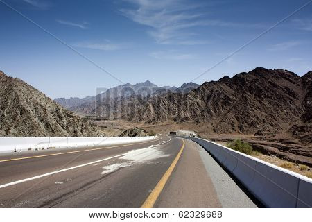 A road in Fujairah, UAE.
