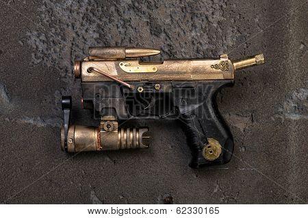 steampunk weapon laser