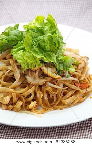 Thailand s national dishes, stir-fried rice noodles Pad Thai poster