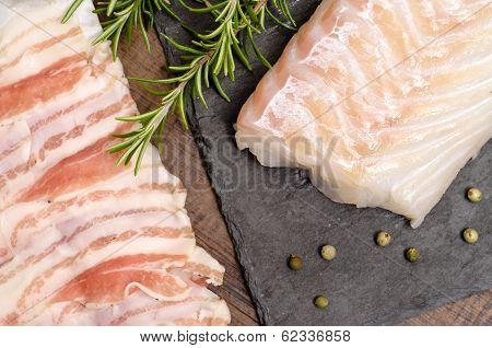 Cod And Pancetta Lard