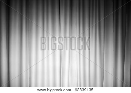 White Curtain Photo Background With Spotlight On It