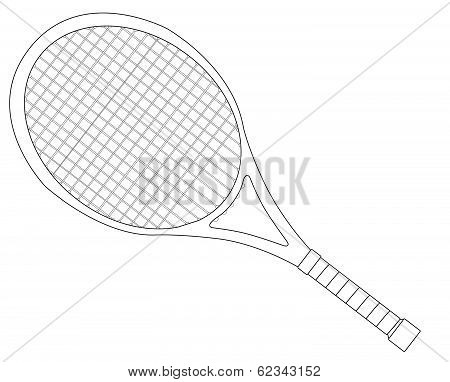 Tennis Racket Outline