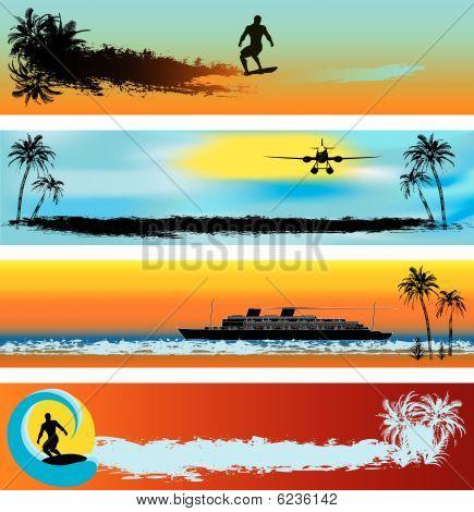 Tropical Beach Web Banner Templates