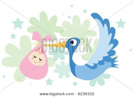 The Stork Brought A Baby Girl!