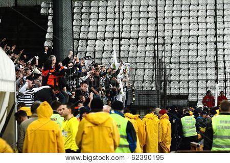 Footabll Hooligans Against Police