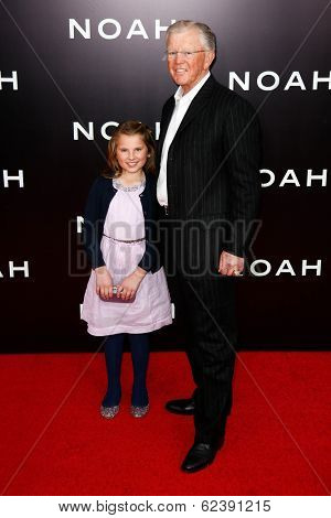 NEW YORK-MAR 26: Elle Gibbs and former football coach Joe Gibbs (R) attend the premiere of