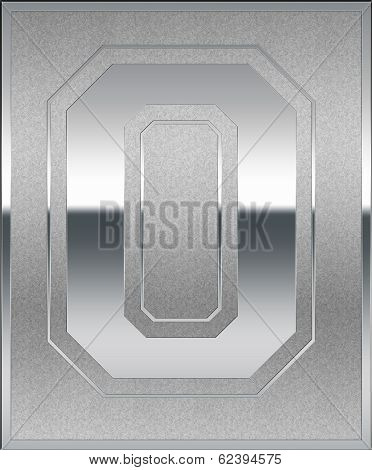 Silver Casted Number 0 Place Sign