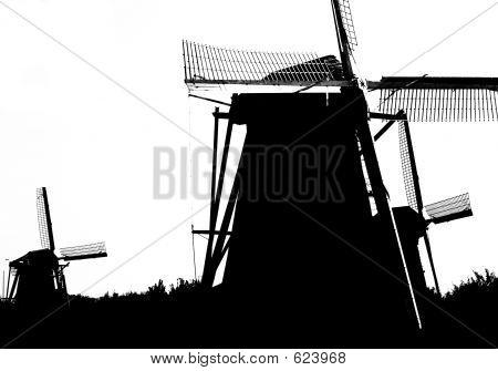 Dutch Windmills In Kinderdijk 11