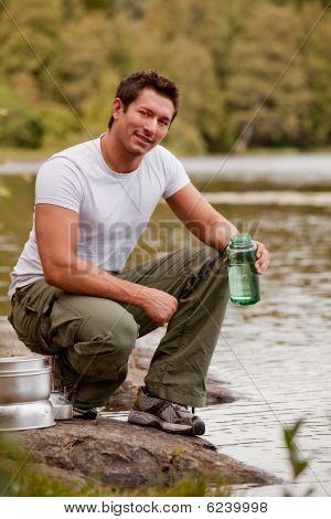 Camping Portrait Man