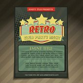 vector club party brochure flyer template design poster