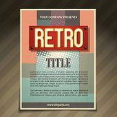 vector promotional flyer design illustration poster