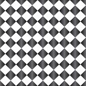 Gray and White Diamond Pattern Repeat Background that is seamless and repeats poster