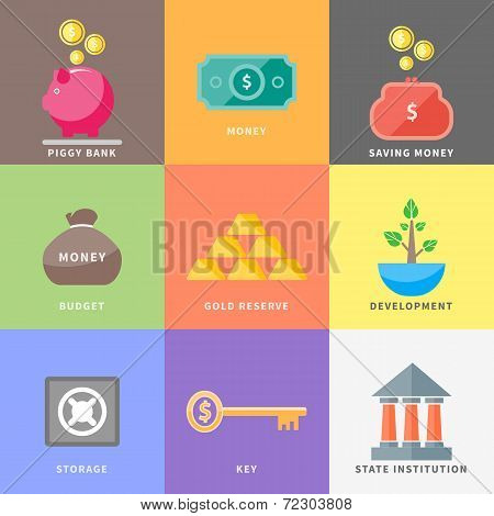 Dollar, Money Tree, Purse, Coin Box Pig, Bank