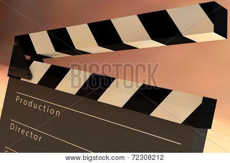 Film Slate Clapper 3D render