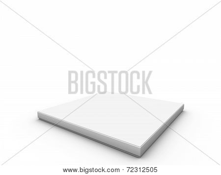White Platform To Place Product
