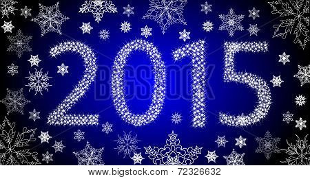 Happy New Year 2013 From Stars With White Snowflakes