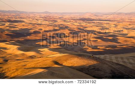 Rolling Hills Palouse Region Washington State Farmland
