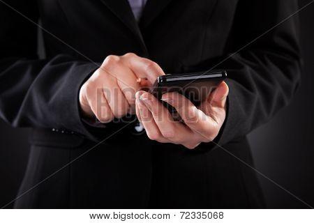 Businessperson Holding Cellphone