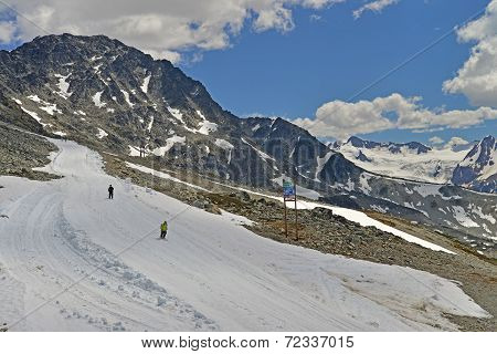 VANCOUVER, CANADA JULY 10: View of the Ski Trail on July 10, 2014 From Whistler