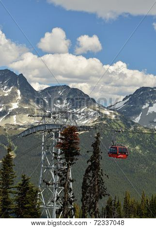 VANCOUVER, CANADA JULY 10: View of the Gondola Bridge on July 10, 2014