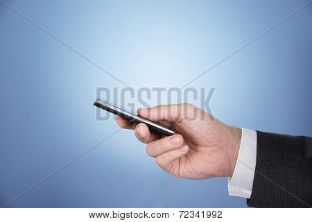 Hand Holding Mobile Phone