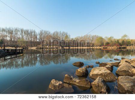 Jilin moon lake scenery